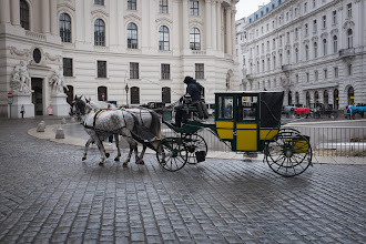 Photo: Lost of horse-drawn carriages in the city center.