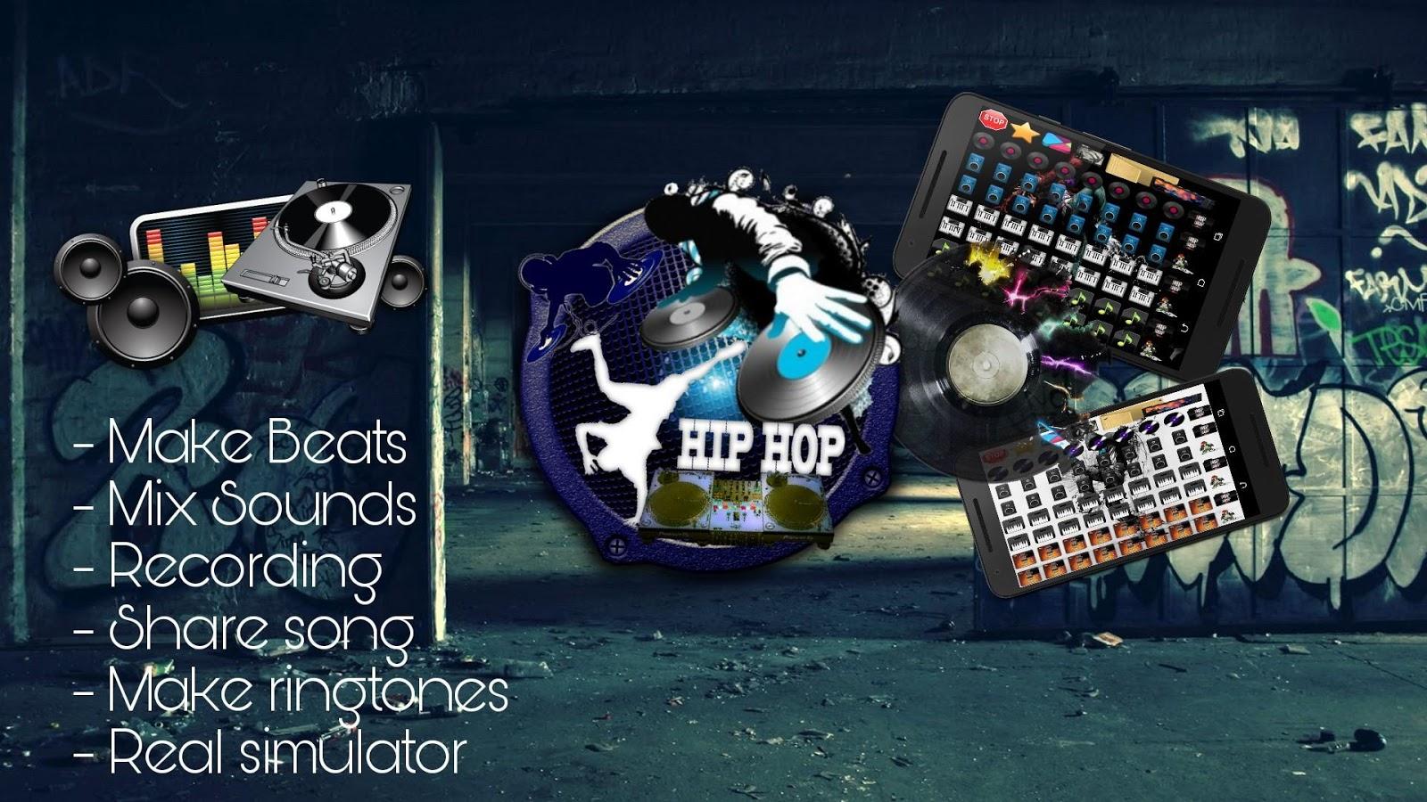hip hop dj beat maker android apps on google play. Black Bedroom Furniture Sets. Home Design Ideas