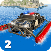 6x6 Police Truck Water Surfer Criminal Chase Game