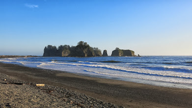 Photo: Rialto Beach- watching sunset over Pacific Ocean!