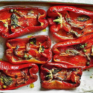 Baked Peppers With Anchovies And Capers.