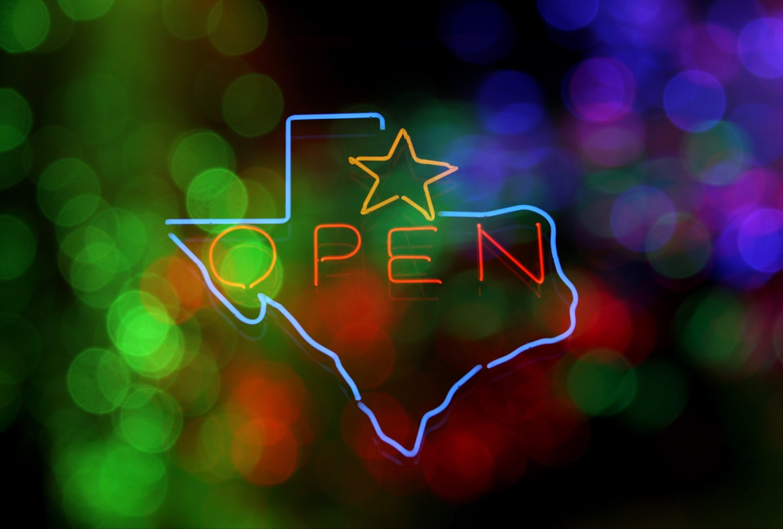 Texas Open for Business sign