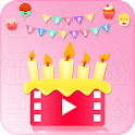 Birthday Video Maker and Song Wishes🎂🥞🧁🍰🍰 icon