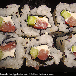 California Rolls inside - out.