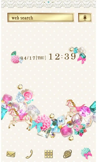 Cute Theme-Lovely Gems- Android App Screenshot