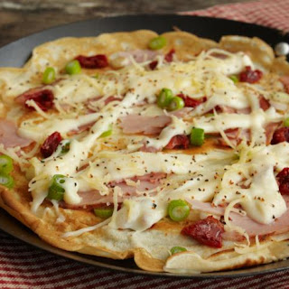 Savoury Pancakes With Ham And Cheese.