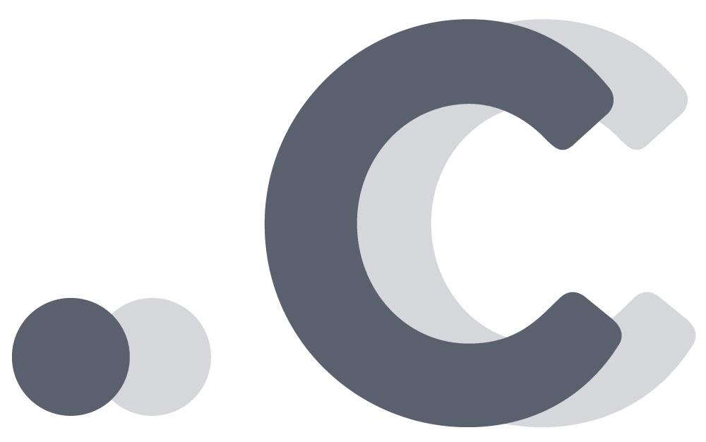 .c TLD logo (Gray)