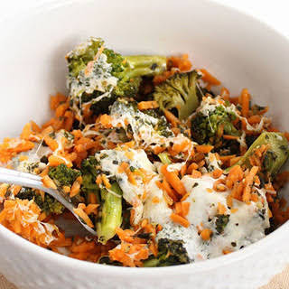 Sweet Potato 'Rice' Casserole [Vegan].