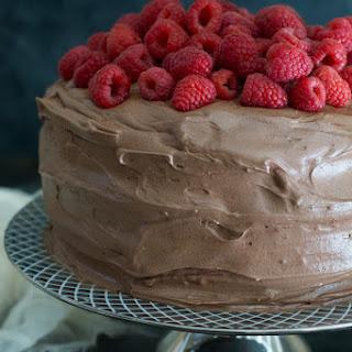 Gluten Free Chocolate Raspberry Layer Cake.