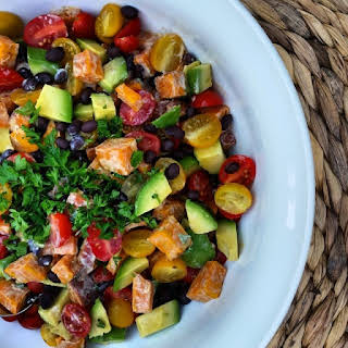Spicy Sweet Potato Salad – Excellent Side Dish for BBQ'S!.