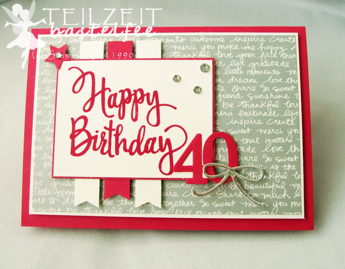 Stampin' Up! – In{k}spire_me #301, Sketch Challenge, Mini Treat Bag Thinlits, Leckereientüte, Stylized Birthday, Banner, Itty Bitty, Star, Birthday, 40. Geburtstag