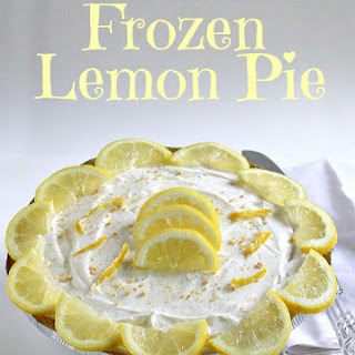 No Bake Frozen Lemon Pie