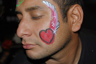 Photo: Guys like face painting too! Bella painted this at a birthday party in Highland, Ca. Call to book Bella today at 888-750-7024