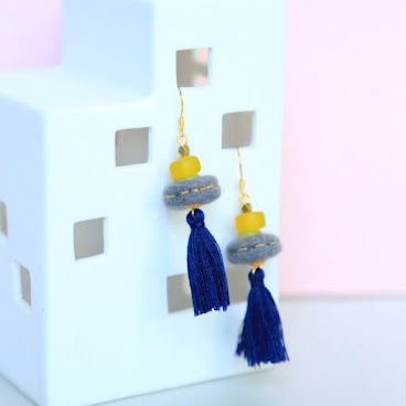 Sesame Macaroon earrings