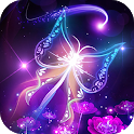 Fluorescent Butterfly Live Wallpaper icon