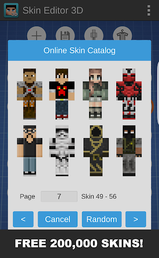 Skin Editor 3D for Minecraft 1.7 screenshots 2