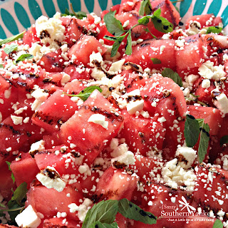 Watermelon Feta Salad with Mint