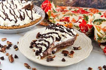 Chocolate Pecan Pie With Chocolate Pudding