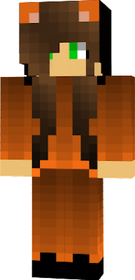 its minecraft user in a fox onesie