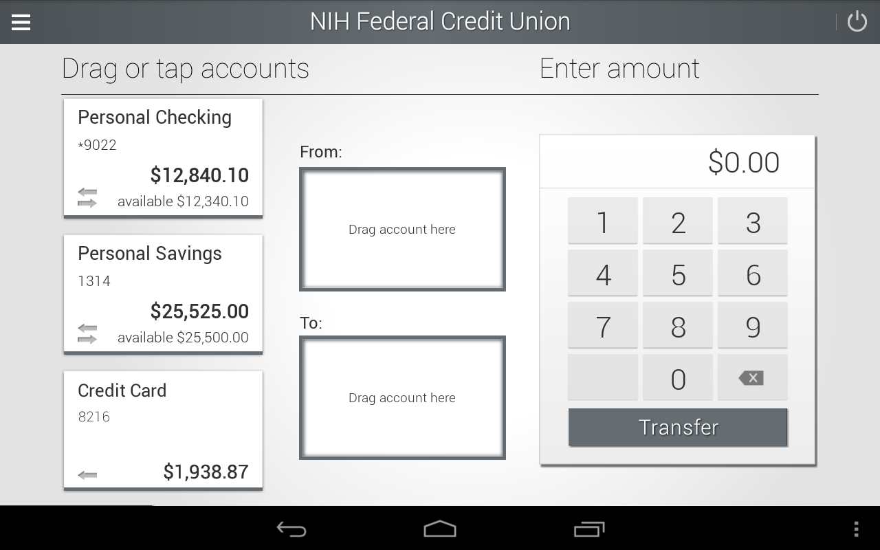 NIHFCU Mobile Banking- screenshot