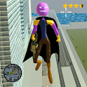 Flying Thanos Stickman Rope Hero Gangster Crime icon