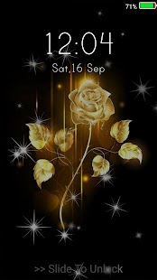 Gold Rose Live Wallpapers ( Lock Screen ) - náhled