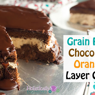 Chocolate Orange Layer Cake (Paleo and Low Carb)