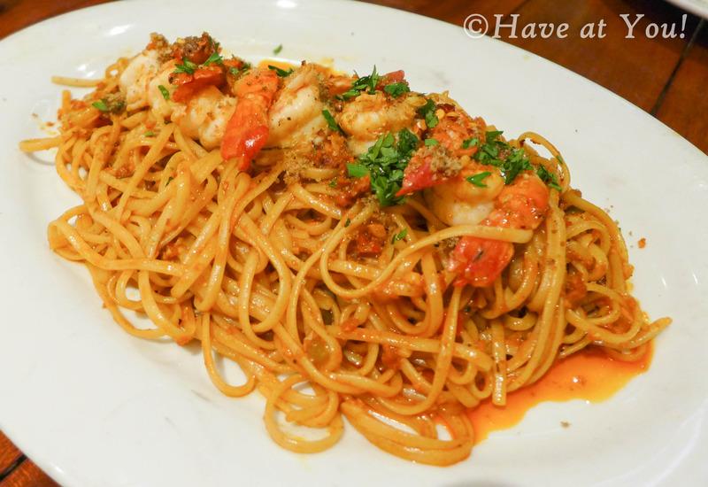 Scampi chorizo pasta
