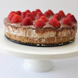 No Bake Strawberry Chocolate Cheesecake.