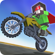 Blocky Superhero Moto Bike Sim