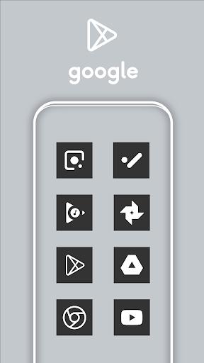 Square Dark UI - Icon Pack screenshot 2