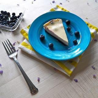 Lemon Blueberry Greek Yogurt Cheesecake.