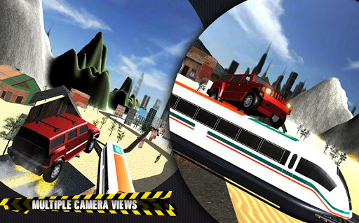 Train vs Prado Racing 3D  screenshots 4