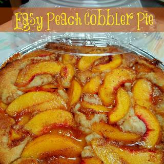 Easy Peach Pie Cobbler
