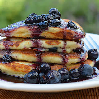 Blueberry Buttermilk Pancakes.