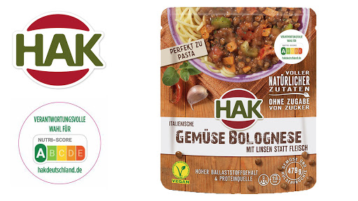 Bild für Cashback-Angebot: HAK Fertiggerichte Gemüse-Bolognese - Hak