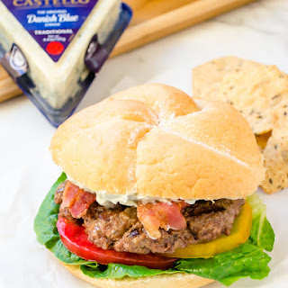 BLT Burgers with Whipped Blue Cheese