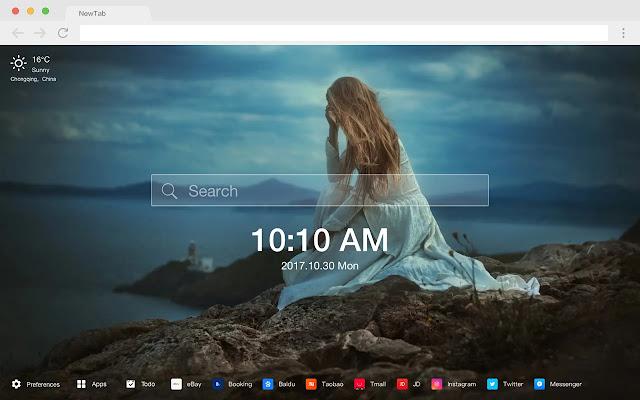 Mood New Tab HD Popular Photography Theme