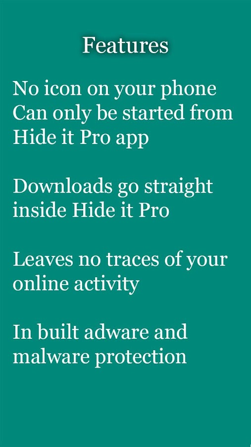 vBrowser for Hide it Pro- screenshot