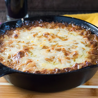 Baked Caramelized Onion Dip with Gruyere Cheese.
