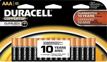 Duracell Coppertop Battery - 16 Batteries, AAA