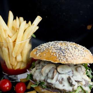 Mushroom Swiss Cheese Burger.