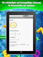 Screenshot of Formelsammlung Mathematik