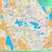 Photo: Karttapullautin map of Meiko forest area, 81 sq. km
