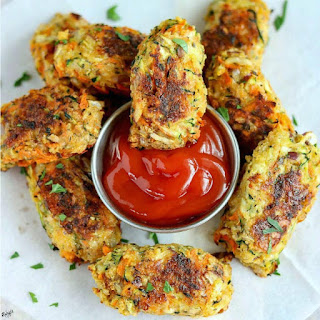 Baked Zucchini Carrot Tots Recipe