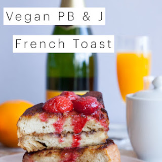 Vegan Peanut Butter and Jelly French Toast