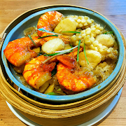 Seafood with Sticky Rice