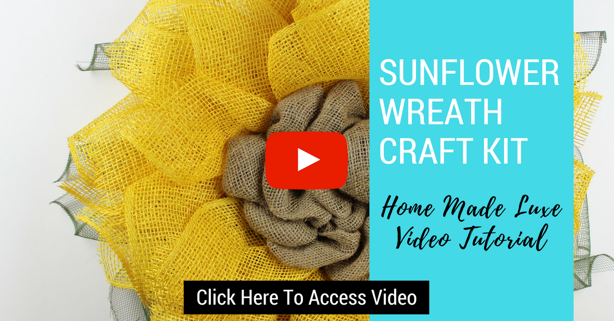Click here to access sunflower wreath video tutorial