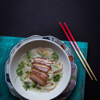 Somen Noodle Soup with Pan-Fried Pork Belly Recipe