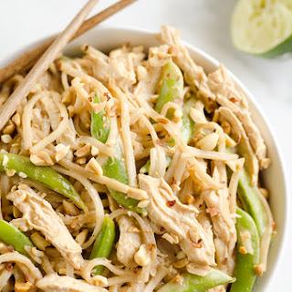 Pressure Cooker Thai Peanut Chicken & Noodles.